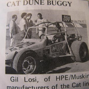 Cat sponsored race car
