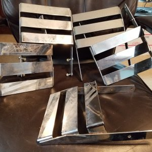 NOS Gilson Chrome Luggage Racks