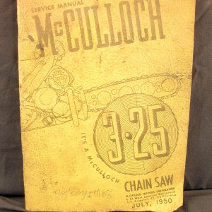 McCulloch 3-25 Chainsaw Owner's Manual