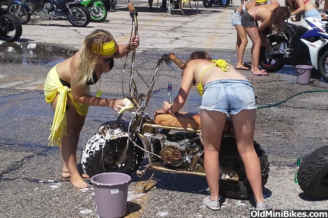 Bike bikini pic wash