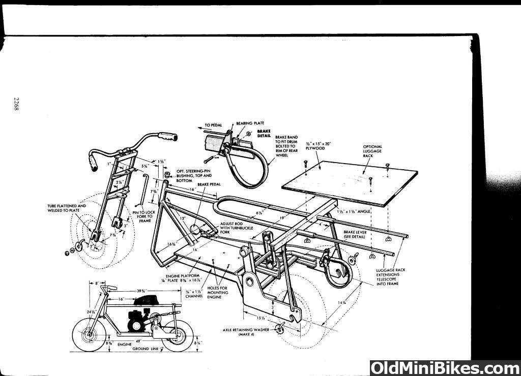 moped engine schematics fat tire scooter parts break down oldminibikes com  fat tire scooter parts break down