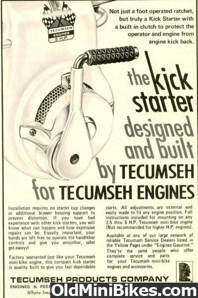 Tecumseh Kick Starter | OldMiniBikes com