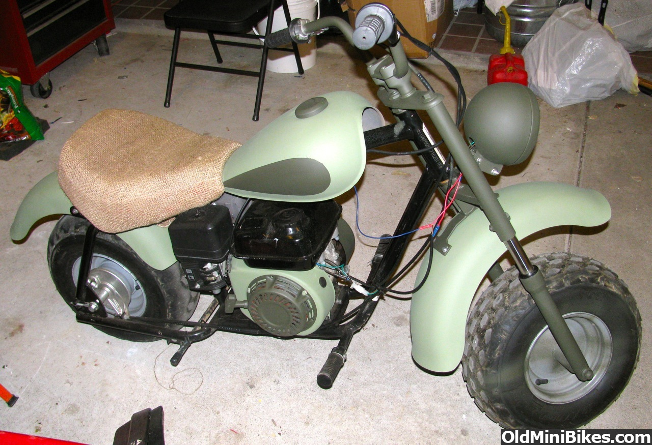 40s Style Army Cycle Baja Bike Just Finished Painting It Page 2