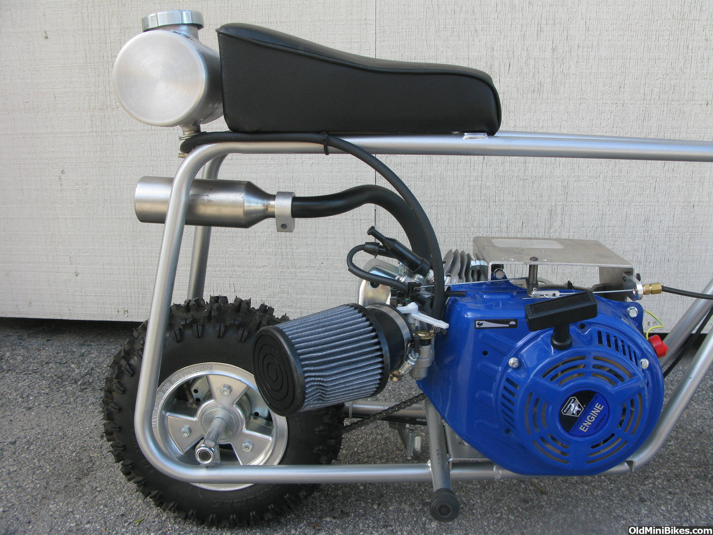 Brand new one of a kind 6 5 hp custom mini bike less than a hour on engine custom intake exhaust and gas tank retro 60s style