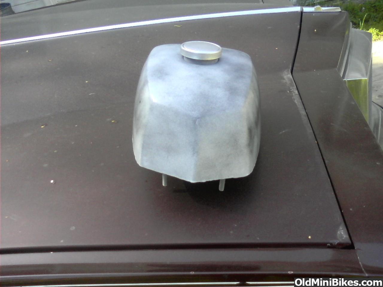 Vintage minibike chrome tank