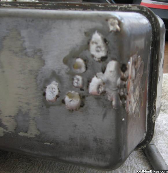 Tecumseh metal fuel tank restoration