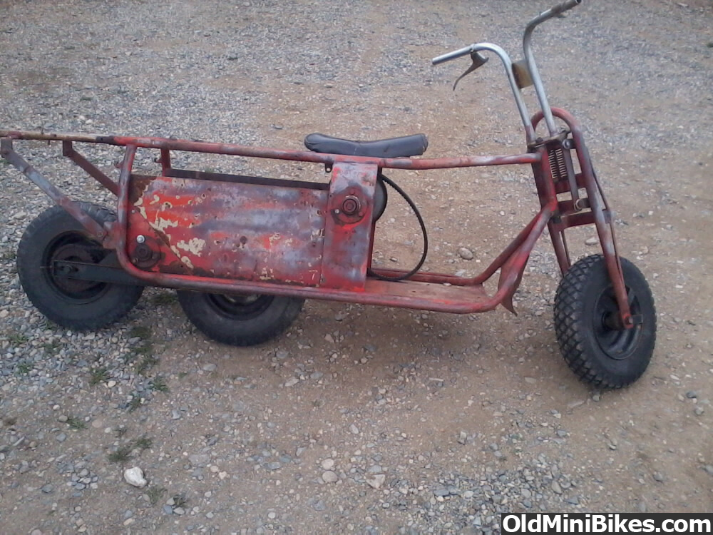 3 Wheel Mini Bike : Inline wheel minibike